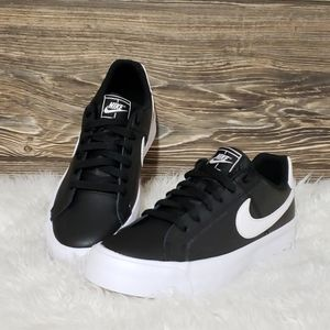 New Nike Court Royale Black White Sneakers
